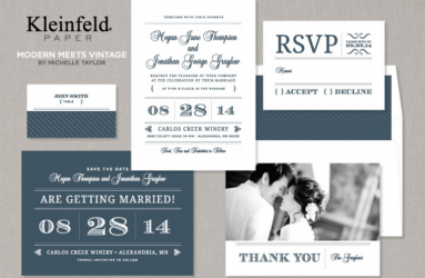 Wedding Invitations- Modern Meets Vintage
