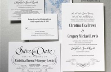 Wedding Invitations - Lemon Tree
